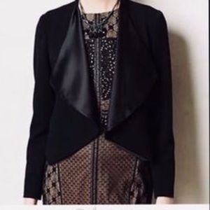 Elevenses By Anthropologie Cropped Black Cardigan